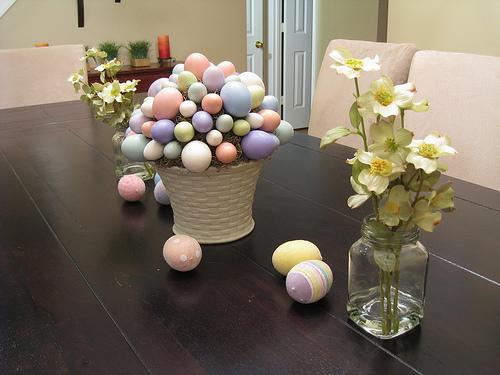 ideias decoracao casa pascoa ovinhos coelhinhos cesta 1 Ideias para decoração de páscoa
