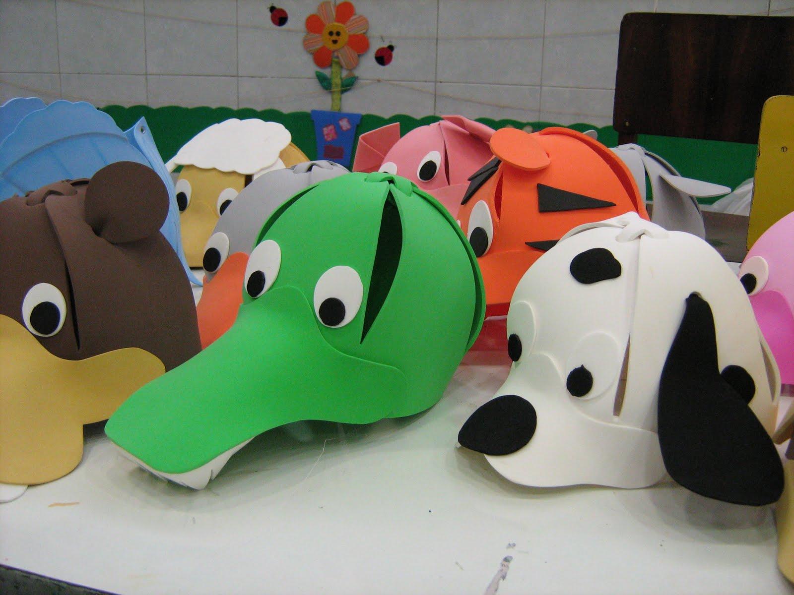 Vamos fazer estes lindos chapéus de animais para a criançada? Veja