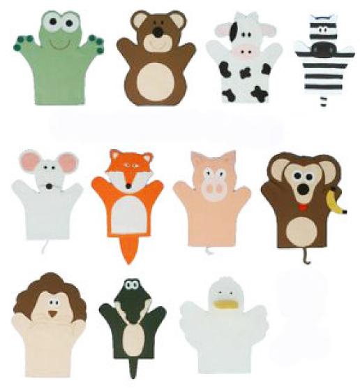 modelos de fantoches de animais
