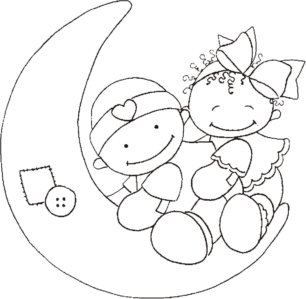 Colorear bebes - Dibujos para colorear - IMAGIXS