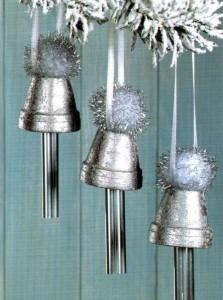 Vasinhos decorados para o Natal