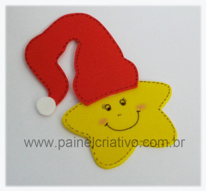 Enfeite para o Natal Painel Criativo -> Decoração Em Eva Natal