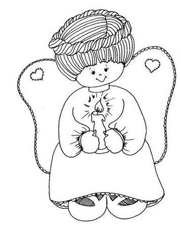 anjos Desenhos-anjinhos-pintura-colorir-natal-4
