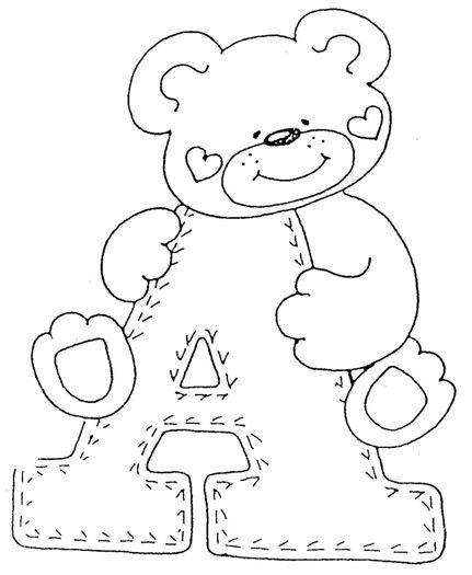 Que Tal Fazer Esse Alfabeto Co Motivos De Ursinhos Em Eva Para Decorar