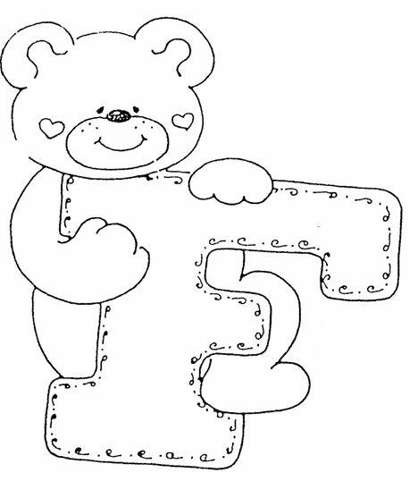 esse alfabeto co motivos de ursinhos em eva para decorar a sua sala de