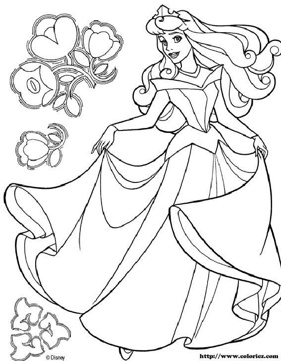 Desenhos Princesas Cinderela A Bela Adormecida Pintura Colorir  3