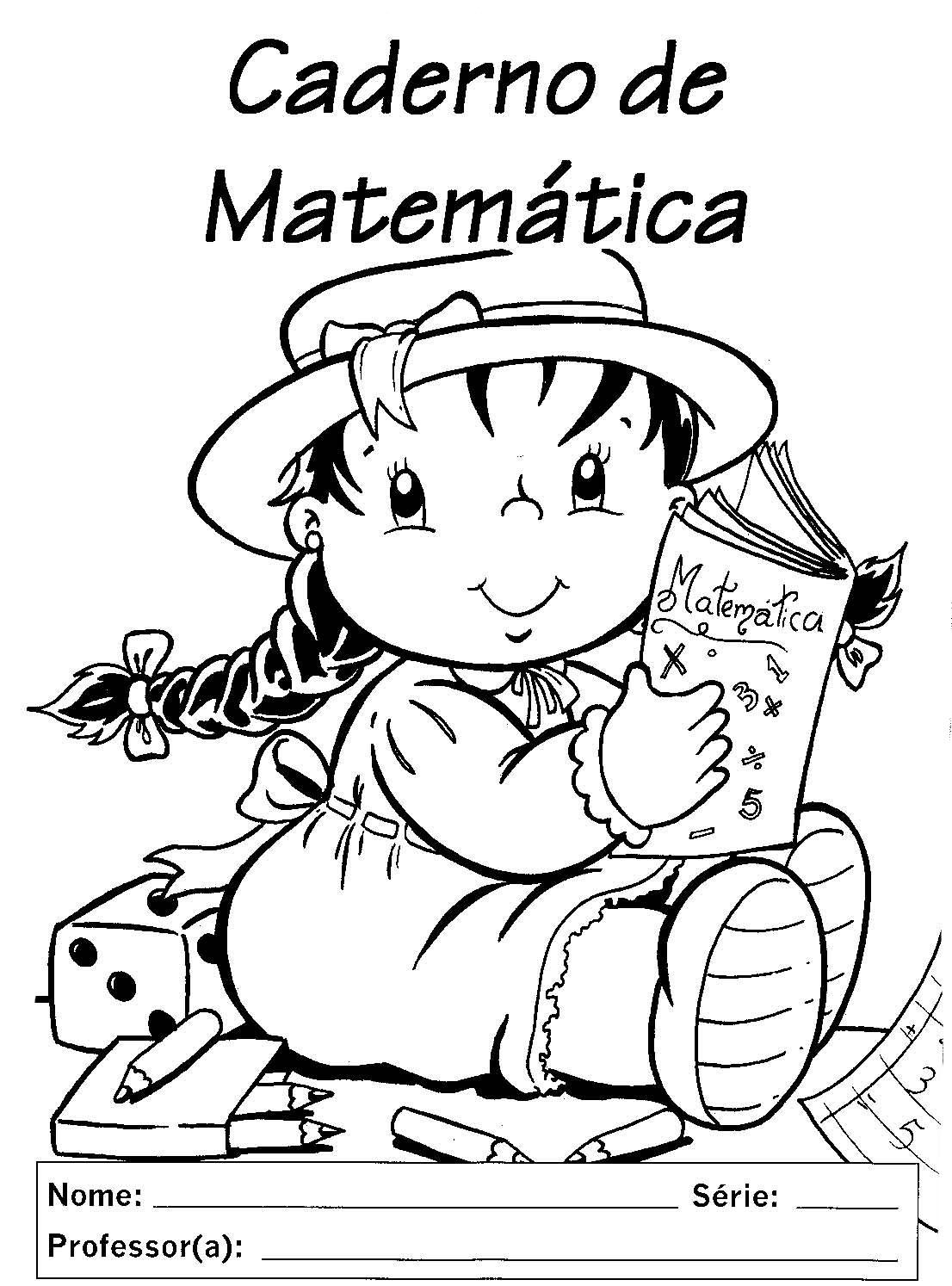 Modelo Capa Caderno Escolar Matematica  3