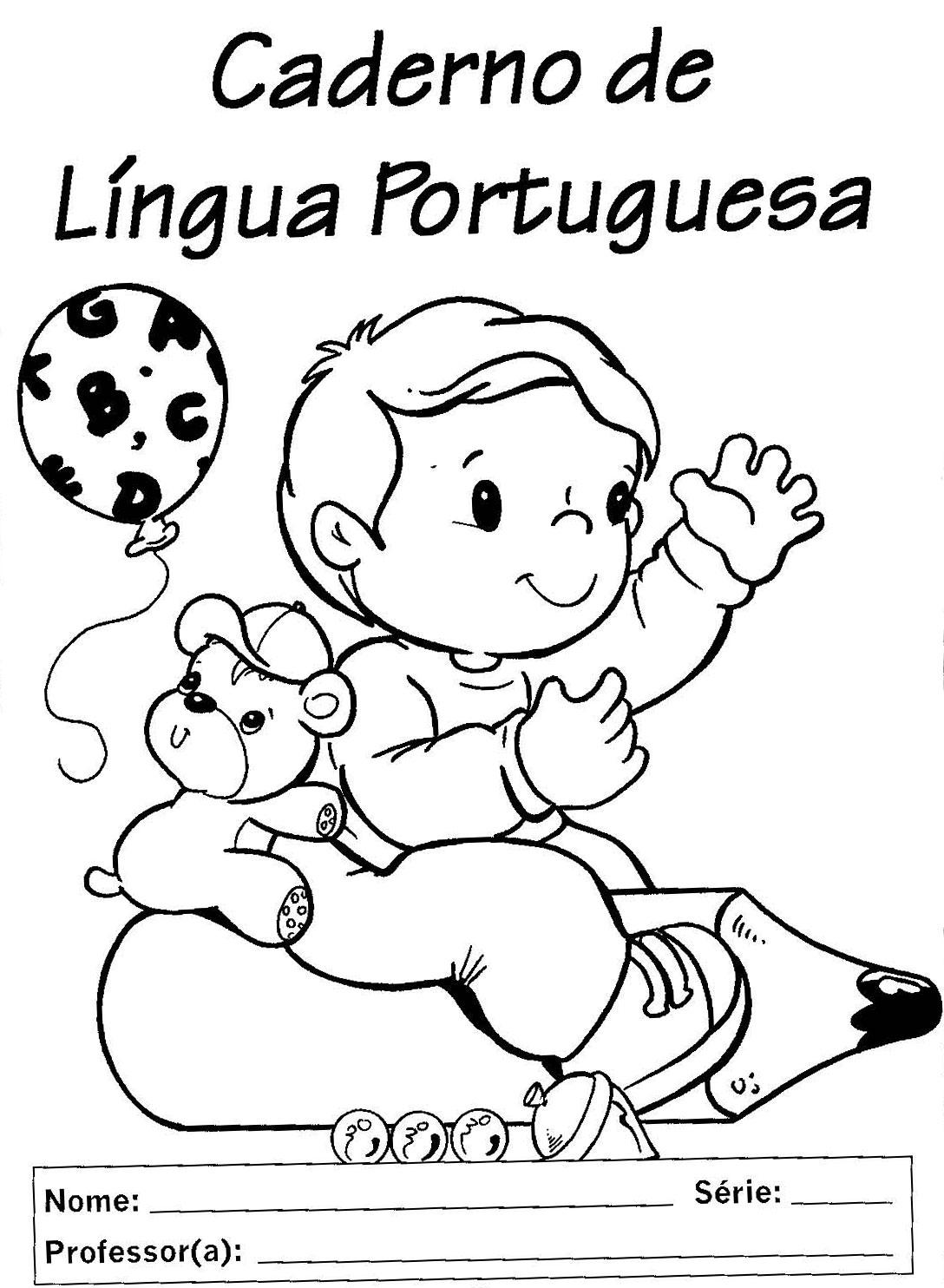 Famosos Educação Adventista | Blog - Capa de caderno para colorir: Portugues ZH55