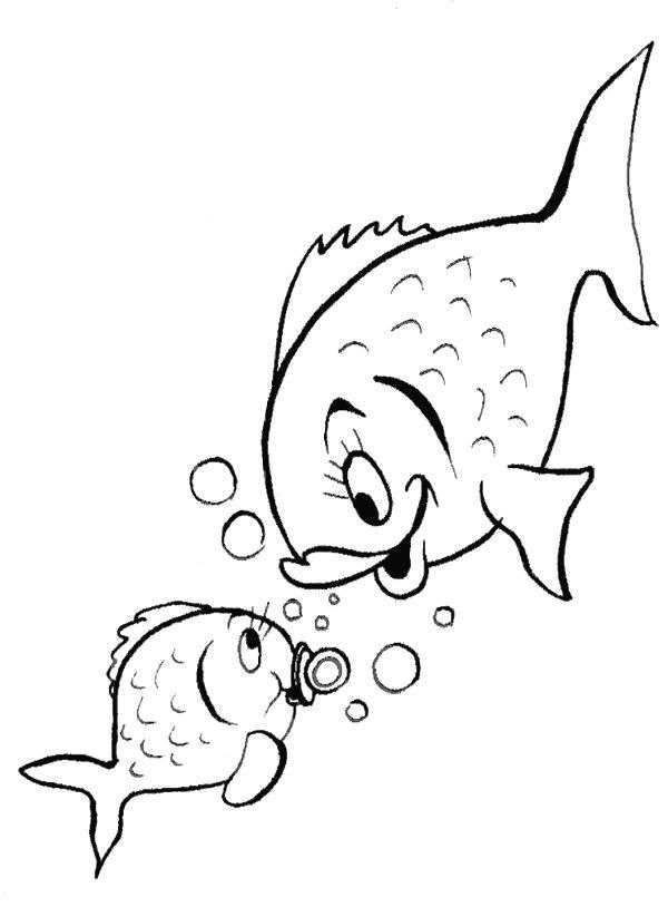 desenhos colorir animais fundo mar peixe (2)