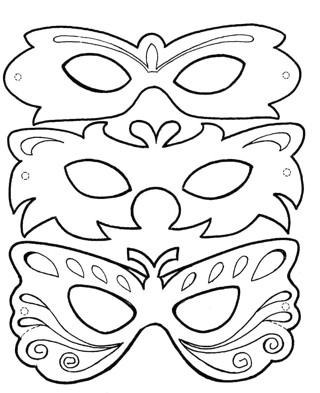 Máscara de payaso para colorear | Máscaras de Carnaval