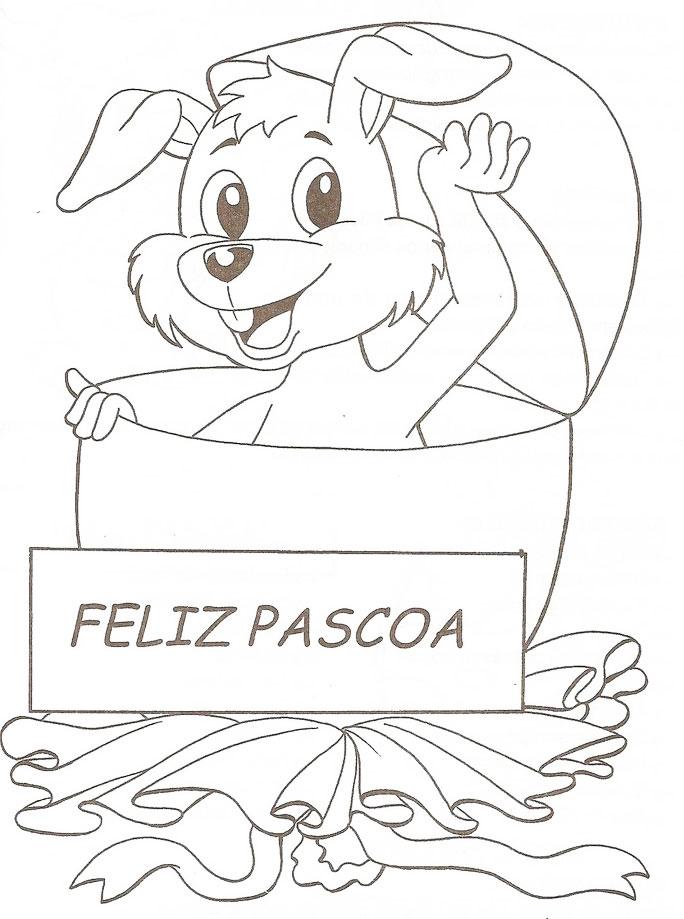 Desenhos Coelhinhos Pascoa Imprimir Colorir Atividades Escolares  9
