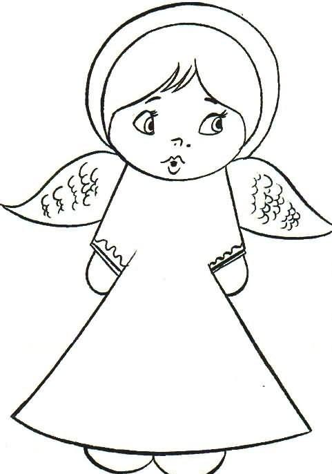 anjos Desenhos-colorir-anjinhos-4