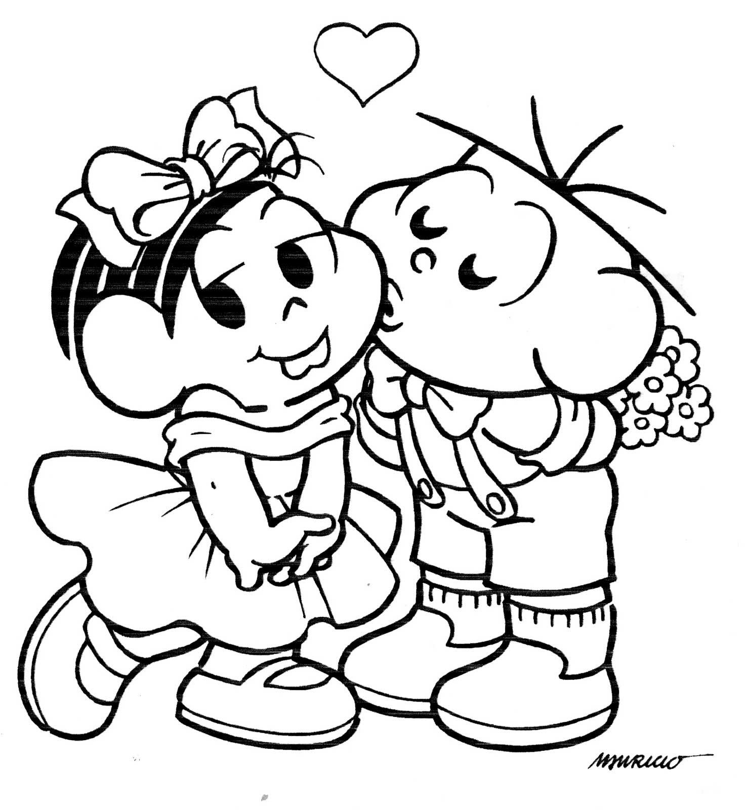 Desenhos Amor Cora Beijo Para Colorir Pintar Pelautscom
