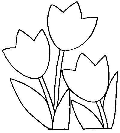 Para quem gosta de desenhos de tulipas para pintura, veja alguns