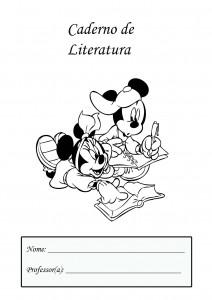 capa de caderno de literatura