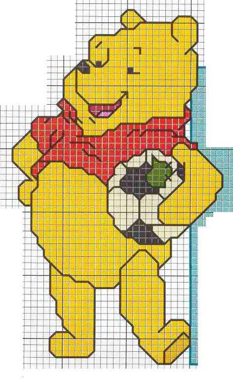 Olha Alguns Graficos De Ponto Cruz Do Ursinho Pooh Clique No Grafico