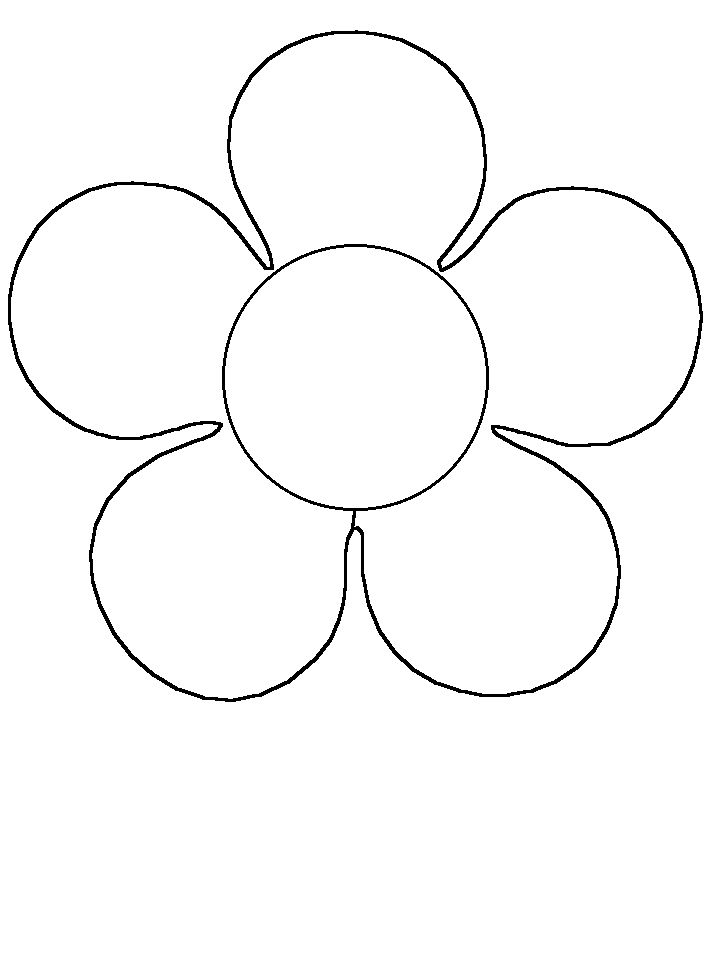 Simple Flower Shapes Coloring Pages