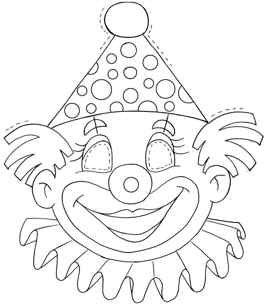 modelo mascara palhaco eva