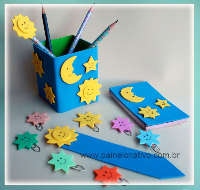 Extremamente Lembrancinha: Kit Escolar de eva | Painel Criativo CM83