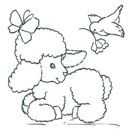 Veja alguns desenhos de ovelhas para imprimir e colorir.