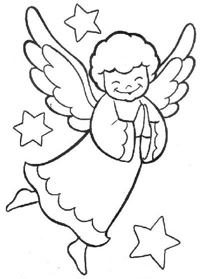 anjos Desenhos-colorir-anjos-natal-1