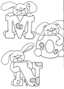 alfabeto coelhinho escola pascoa painel criativo