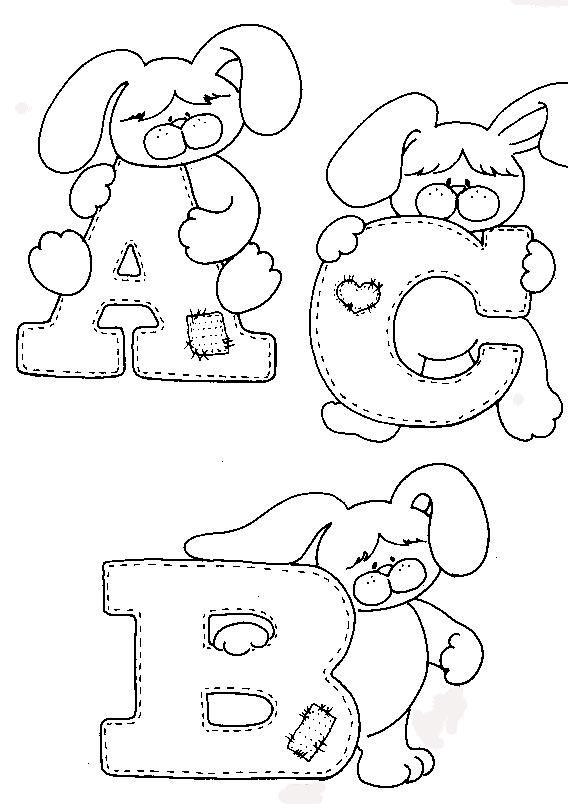 Alfabeto Do Coelhinho Para Colorir  Clique Na Imagem Para Ampliar