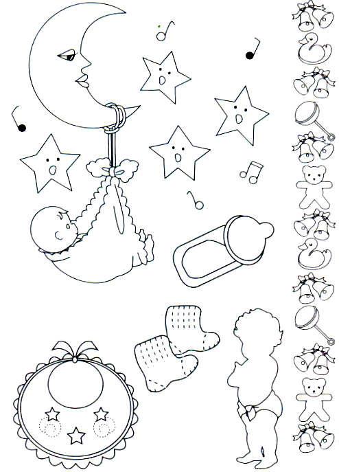 Veja alguns desenhos de bebês e ursinhos para você pintar em fraldas ...