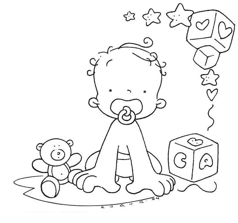 Veja alguns desenhos de bebês e ursinhos para você pintar em fraldas