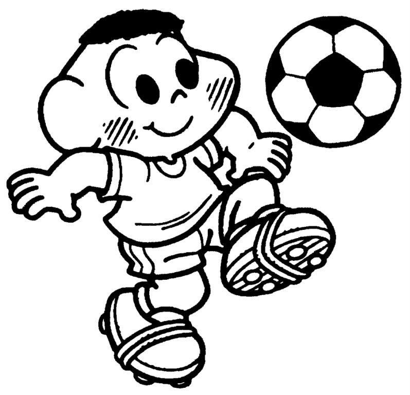 Desenhos Colorir Turma Da Monica Futebol  1