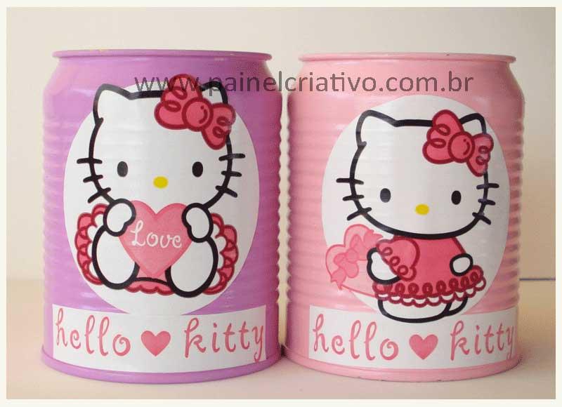 reciclagem latinha decoupage hello kitty (2)