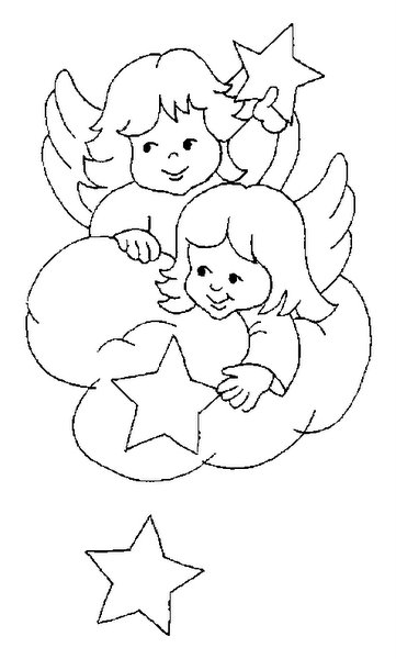 anjos Desenhos-colorir-anjinhos-natal-3