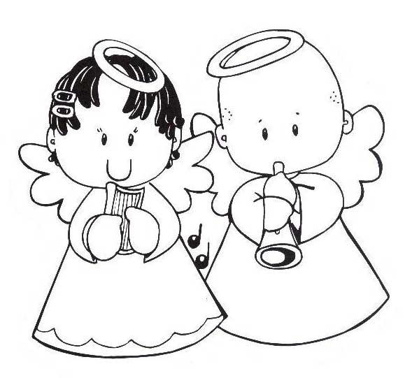 anjos Desenhos-colorir-anjinhos-natal-6