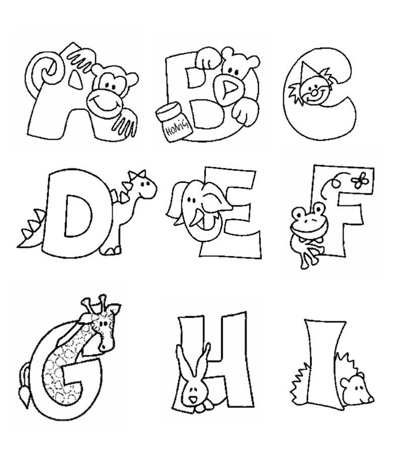 Desenhos Colorir Alfabeto Animais  1