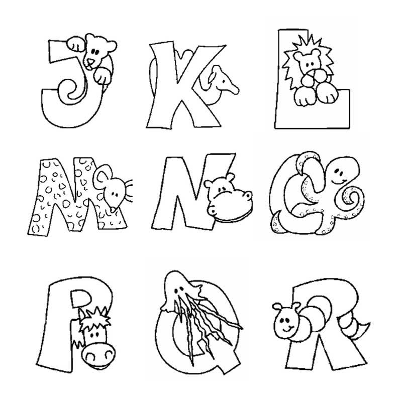 Desenhos Colorir Alfabeto Animais  2