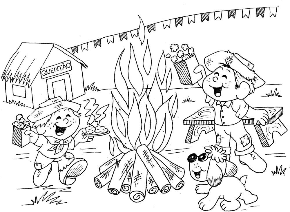 desenhos para colorir festa junina desenhos de espantalhos para
