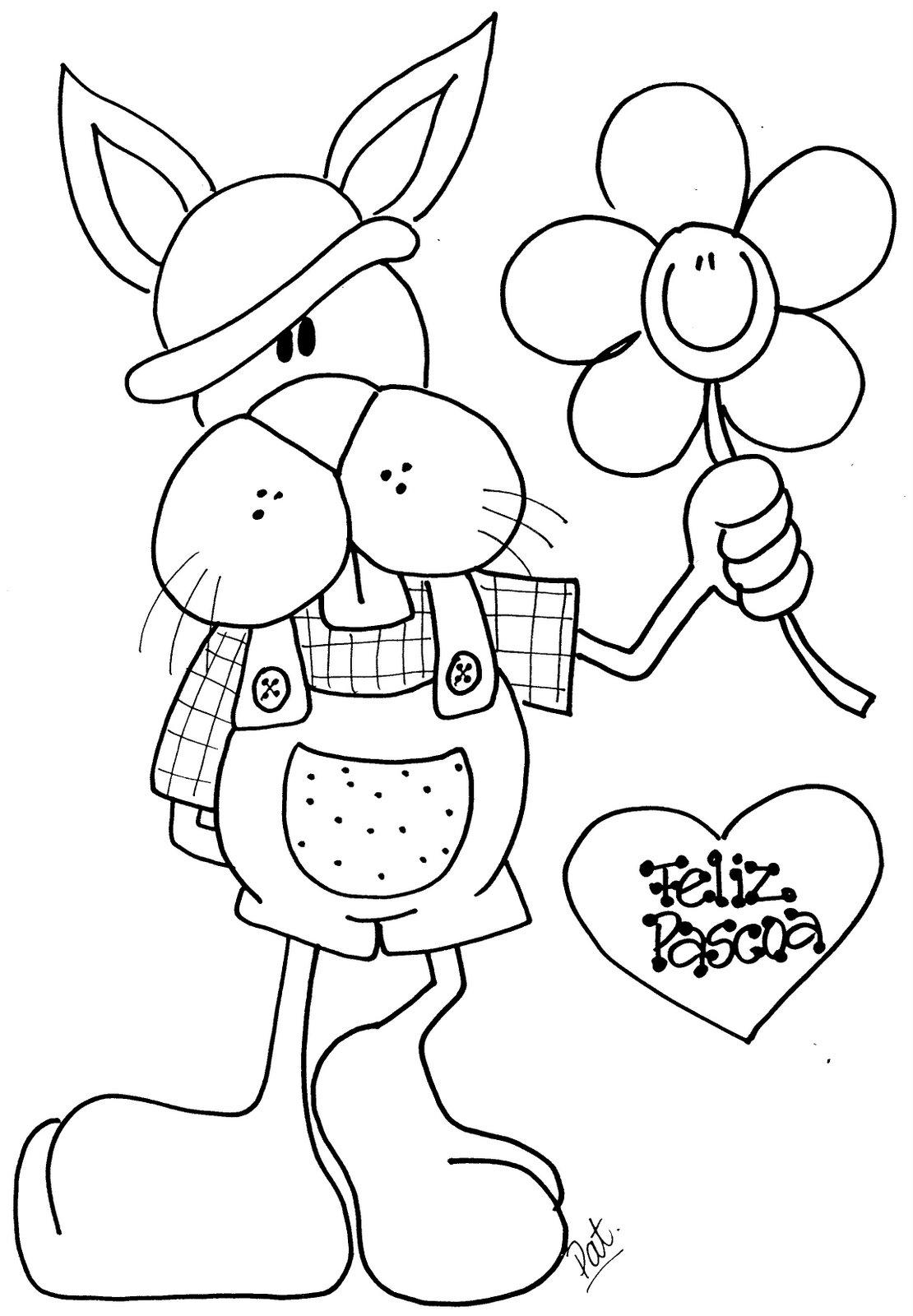 desenhos coelhinhos pintura pascoa imprimir colorir (2)