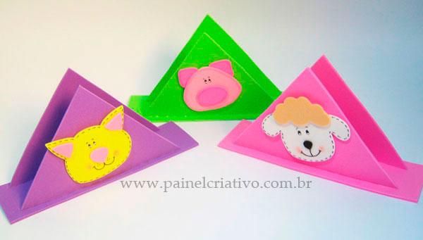 Modelo Porta Guardanapo Festa Infantil Fazendinha Gatinho Porquinho