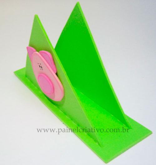 Modelo Porta Guardanapo Festa Infantil Fazendinha Porquinho Eva  2