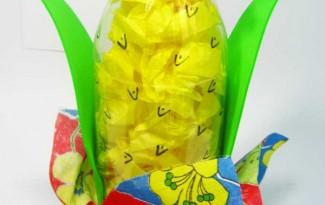 passo a passo enfeite festa junina garrafa pet (2)