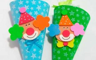 lembrancinha palhacinho cone eva dia das criancas festa infantil (5)