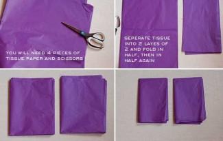 como fazer embrulho presente natal flor papel (1)