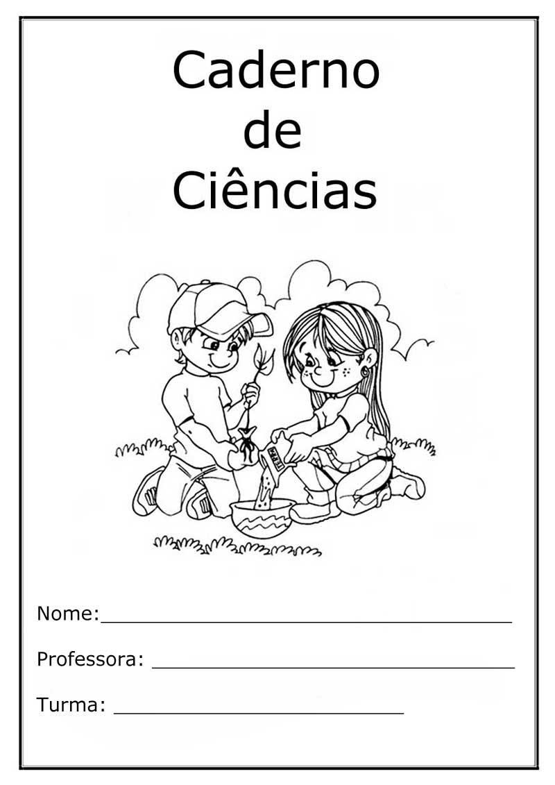 Capa Caderno Infantil Ciencias  5