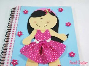 como fazer capa caderno eva menina escola (2)
