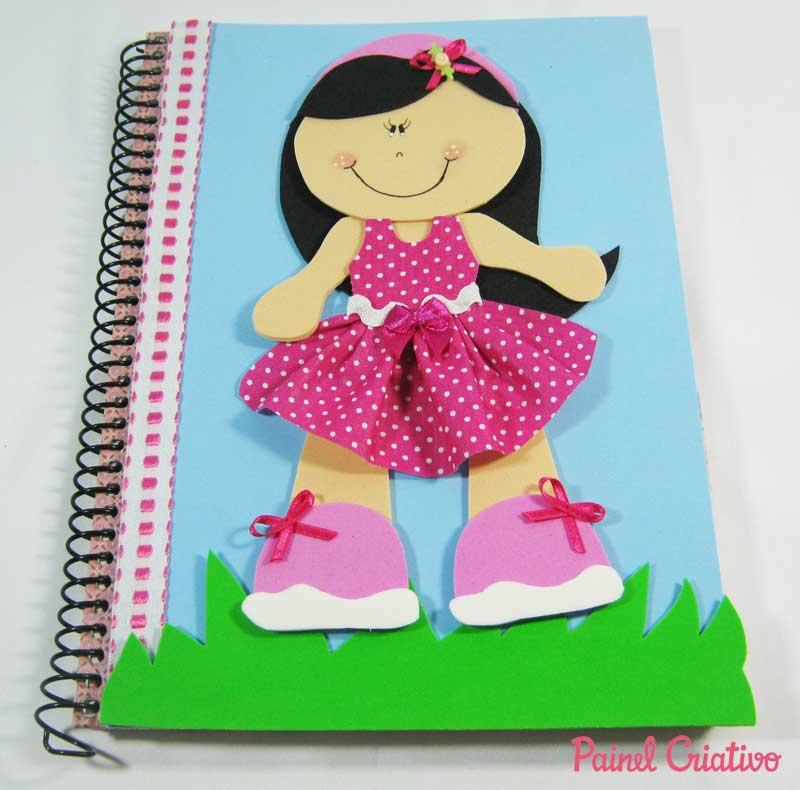 Capa De Caderno De EVA Para As Meninas