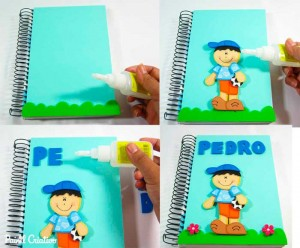 como fazer capa de caderno escolar menino menina eva (1)