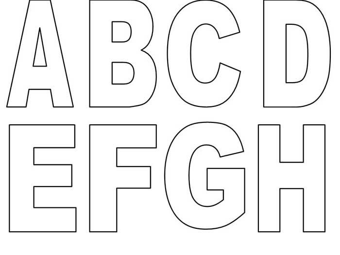 Molde alfabeto para imprimir - Imagui
