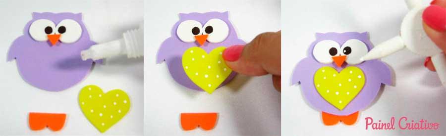 como fazer porta tesoura bichinho leaozinho caracol corujinha eva (6)