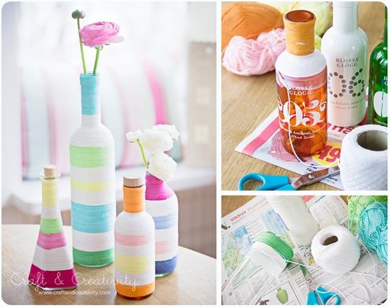 garrafa decoradas linha reciclagem