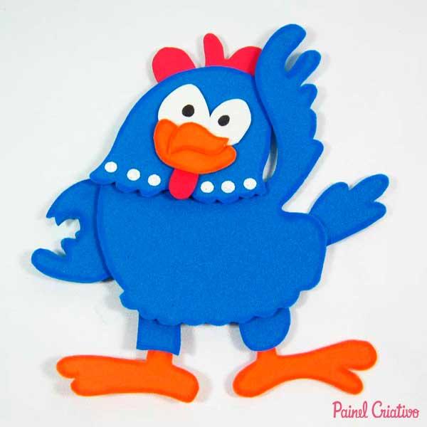 molde galinha eva pintadinha festa aniversario lembrancinha (8)